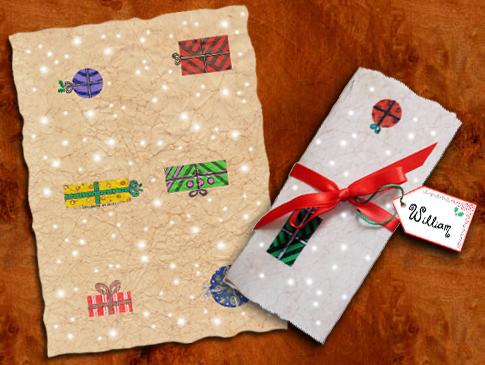 Printable backs for Father Christmas letters by Leone Annabella Betts.