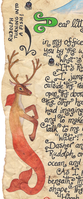 Illustration of Rudolph from Latest Christmas Story by Leone Annabella Betts