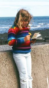 Photo of Leone Betts on the prom in Aberaeron