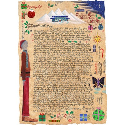 """Letter from Father Christmas, """"The Giant and the Moths"""", written and illustrated by L A Betts"""