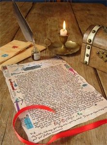 Photo of a Father Christmas Letter and Quill