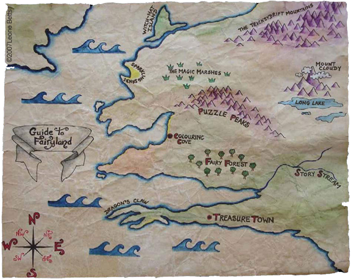 Map of Fairyland by Leone Annebella Betts